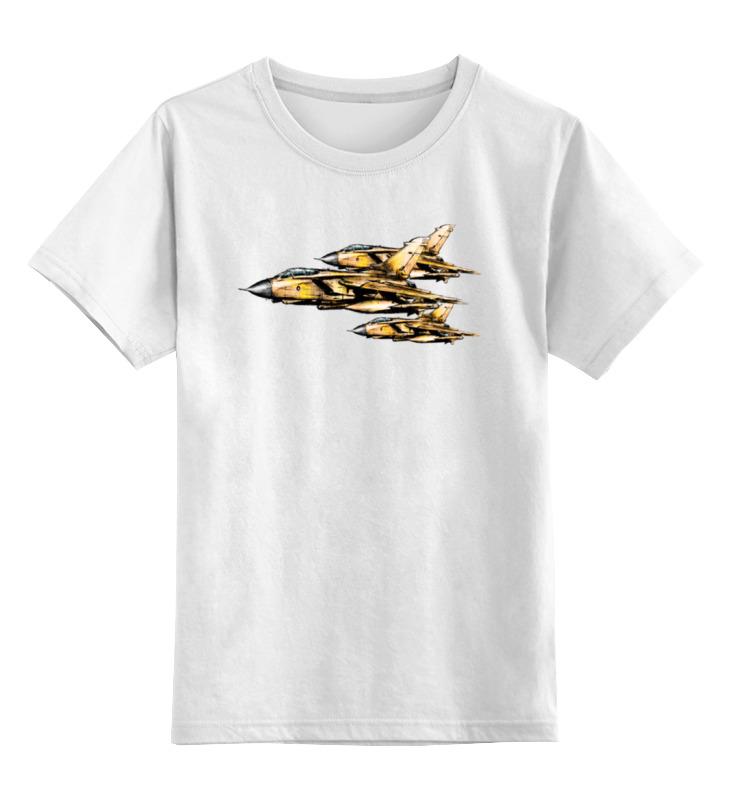Детская футболка классическая унисекс Printio Торнадо (самолёт) цена и фото
