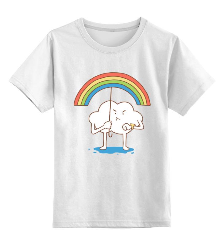 Детская футболка классическая унисекс Printio Облако и радуга футболка классическая printio облако и радуга