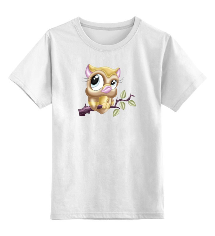 Детская футболка классическая унисекс Printio Сова цена и фото