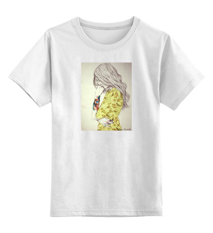 Детская футболка классическая унисекс Printio Девушка детская футболка классическая унисекс printio сексуальная девушка в молоке