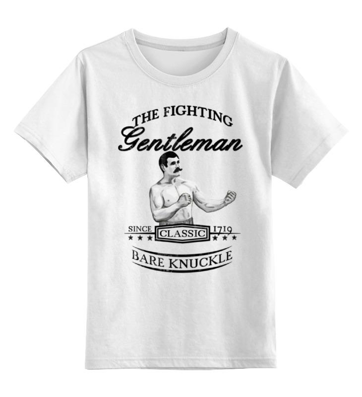 Детская футболка классическая унисекс Printio Джентльмен боец футболка классическая printio крутой боец