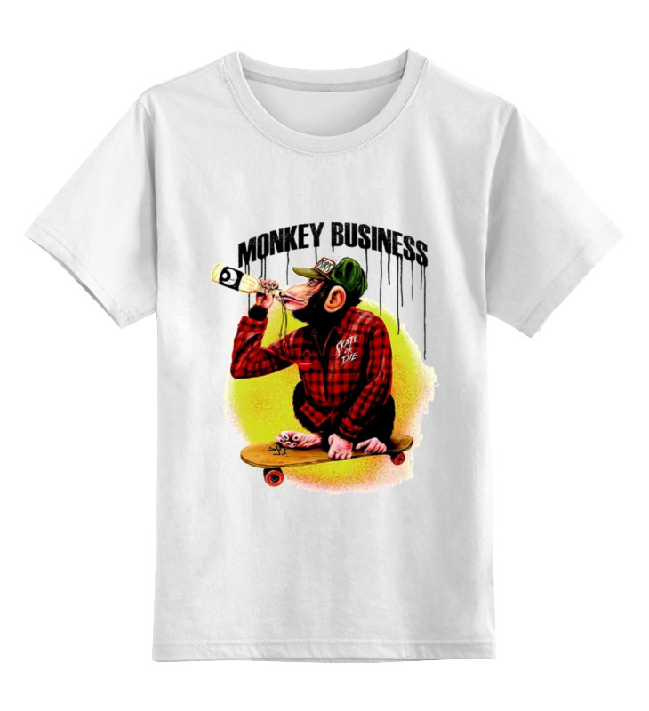 Детская футболка классическая унисекс Printio Monkey (обезьяна) детская футболка классическая унисекс printio hamlet monkey