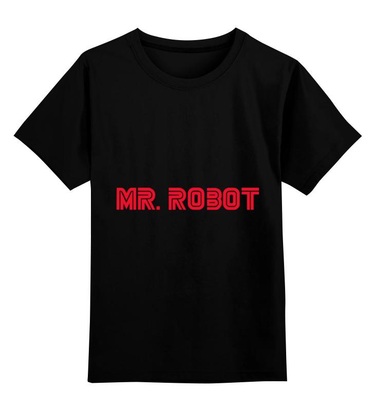 Детская футболка классическая унисекс Printio Mr. robot