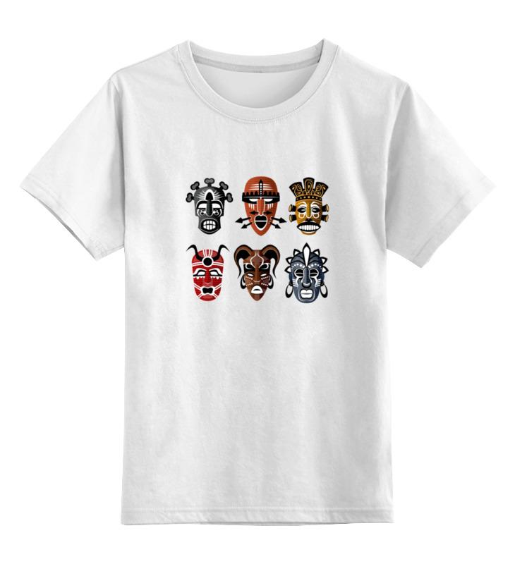 Детская футболка классическая унисекс Printio Африканские маски