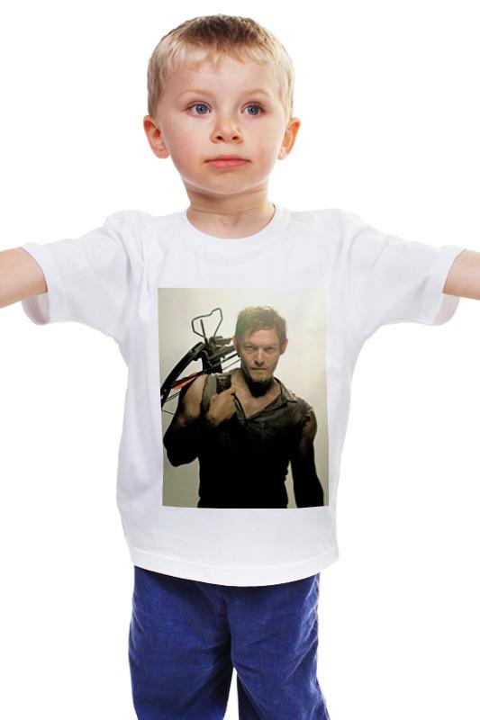 Детская футболка классическая унисекс Printio The walking dead daryl худи print bar the walking dead