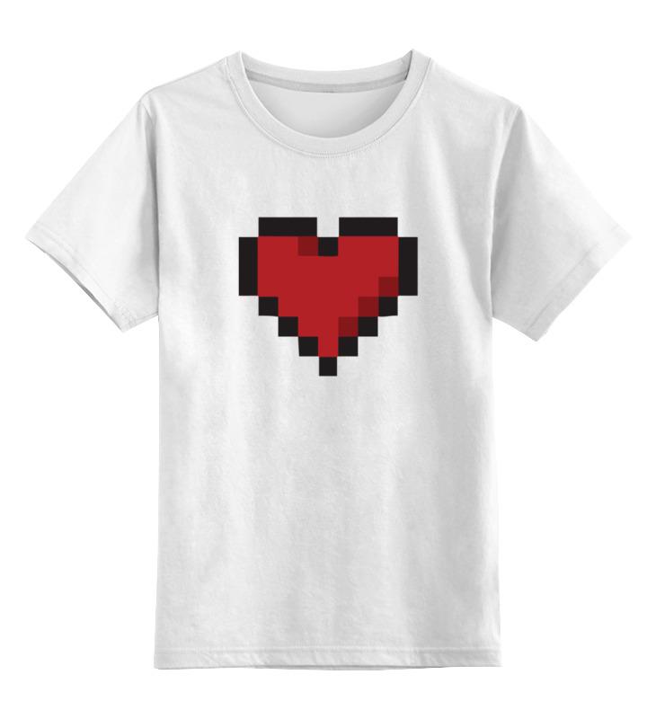 Детская футболка классическая унисекс Printio Пиксельное сердце (8-бит) детская футболка классическая унисекс printio сердце