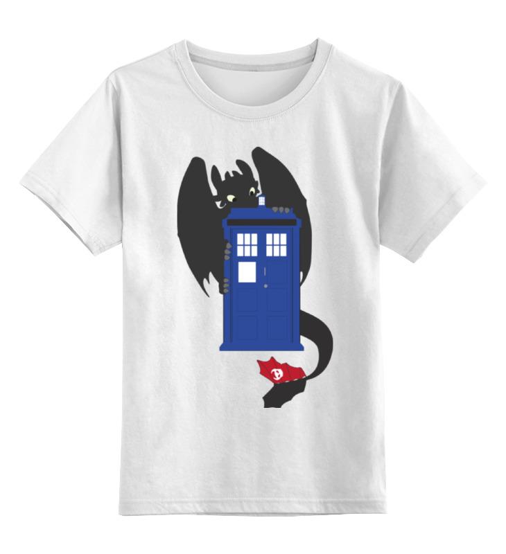 Детская футболка классическая унисекс Printio Как приручить тардис