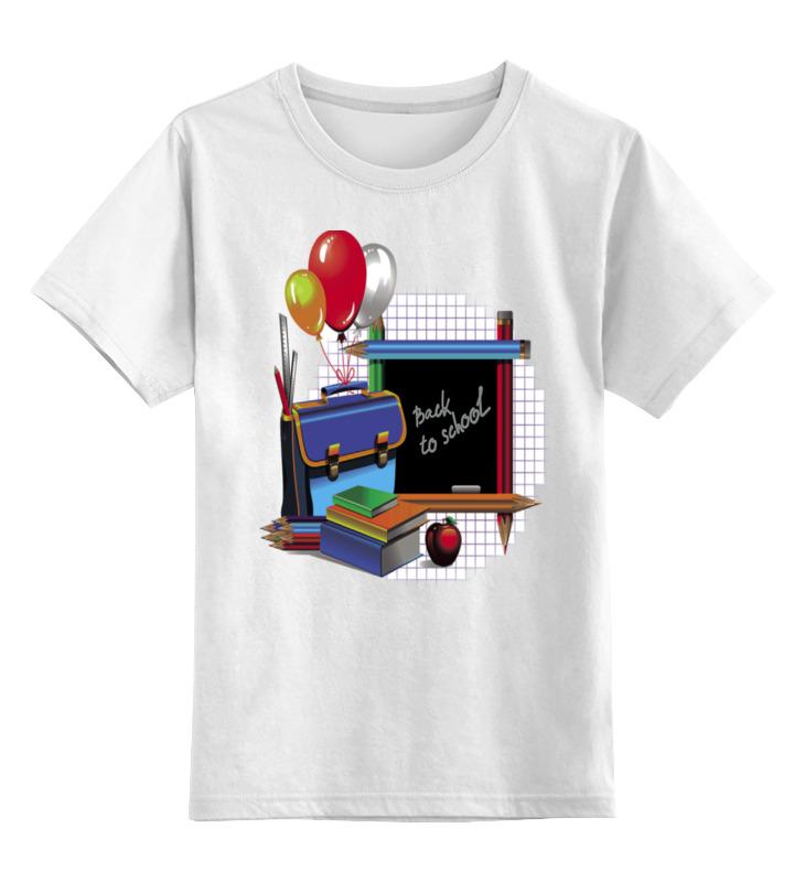 Детская футболка классическая унисекс Printio День знаний.1 сентября.школа цена и фото