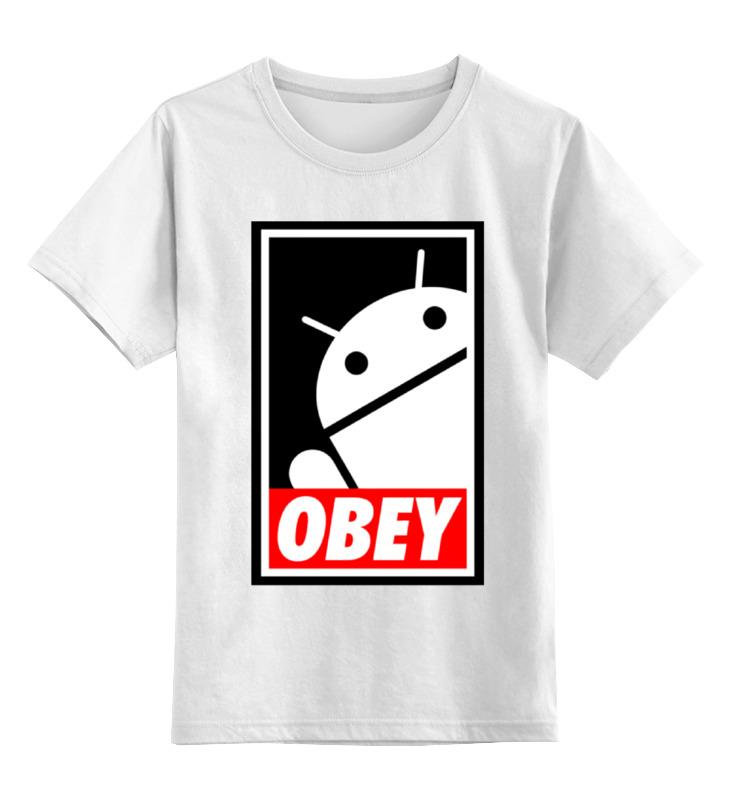 Детская футболка классическая унисекс Printio Android (obey) детская футболка классическая унисекс printio starbucks obey