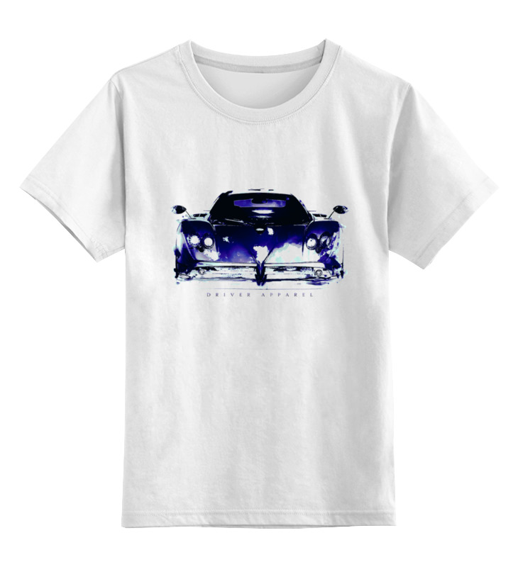 Детская футболка классическая унисекс Printio Пагани зонда - pagani zonda supercar art игрушка motormax pagani zonda f 73369