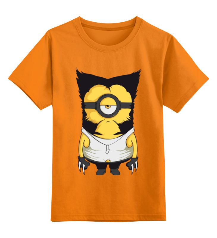 Детская футболка классическая унисекс Printio Миньон росомаха цена и фото