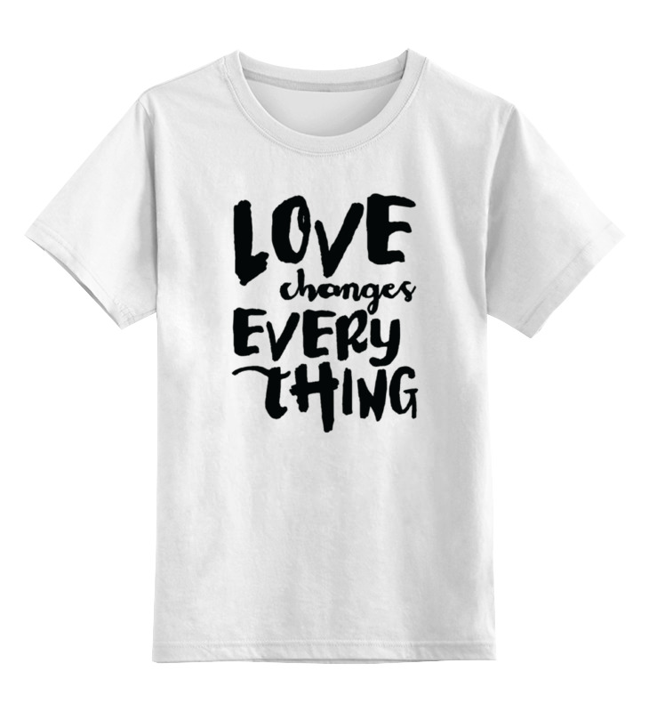 Детская футболка классическая унисекс Printio Любовь всё меняет детская футболка классическая унисекс printio наше всё