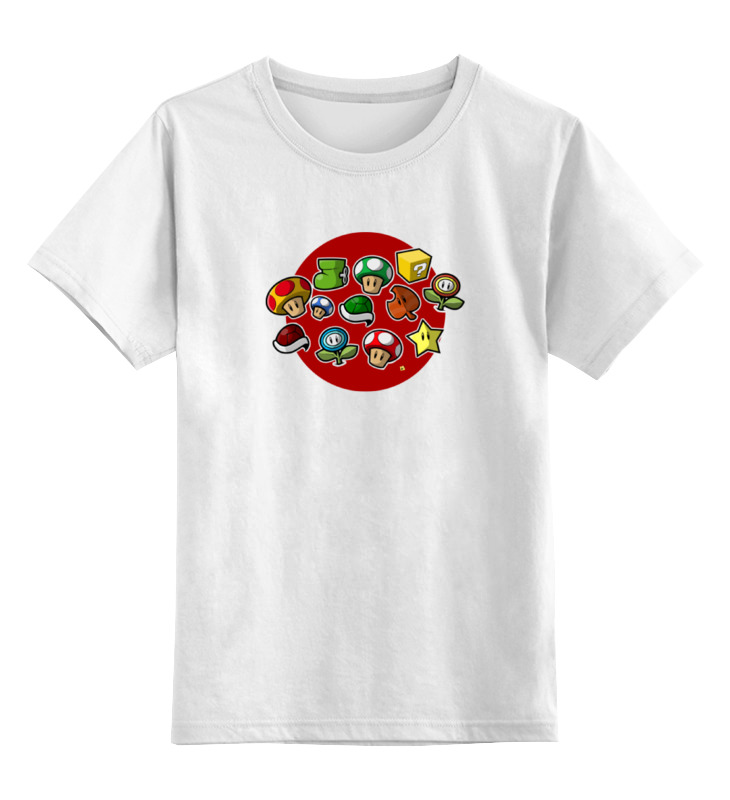 Детская футболка классическая унисекс Printio Персонажи марио цена и фото