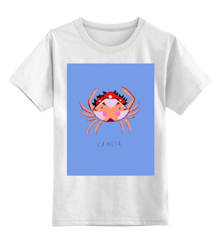 Детская футболка классическая унисекс Printio Знаки зодиака. рак. лонгслив printio знаки зодиака рыбы