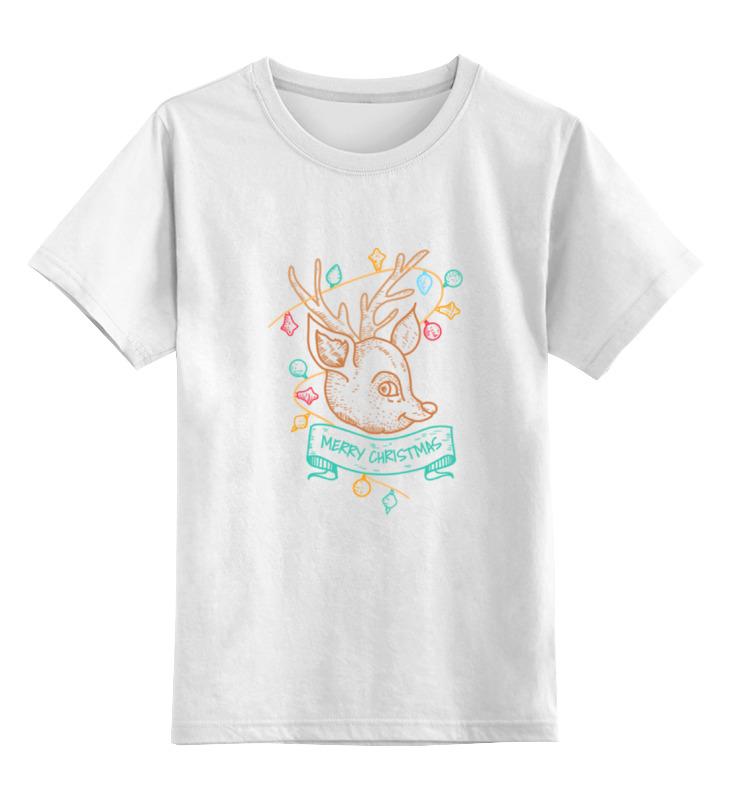 Детская футболка классическая унисекс Printio Новогодний олененок футболка классическая printio новогодний лось