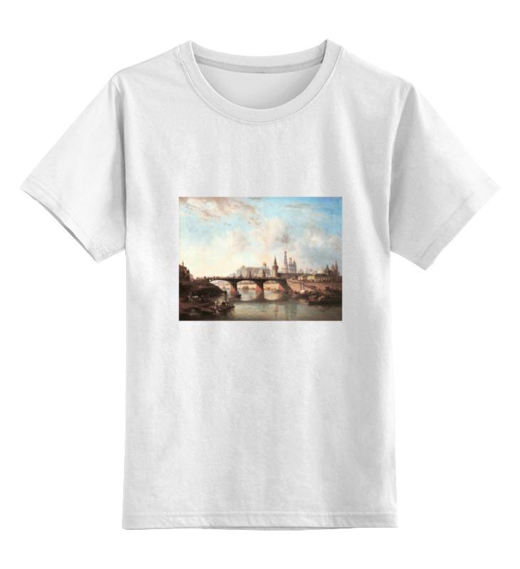 Детская футболка классическая унисекс Printio Вид кремля цена