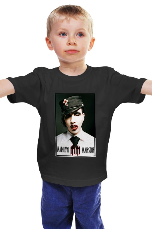 Детская футболка классическая унисекс Printio Marilyn manson