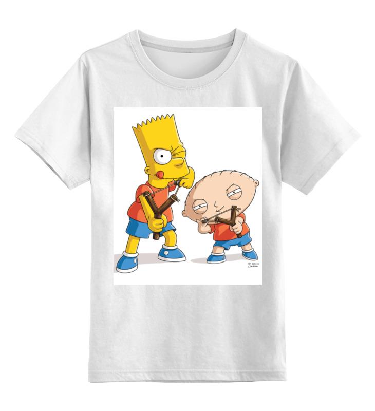 Детская футболка классическая унисекс Printio Bart stewie футболка print bar stewie and bart