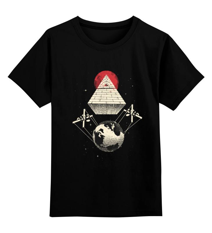 Детская футболка классическая унисекс Printio Иллюминаты управляют миром ангелы демоны и иллюминаты