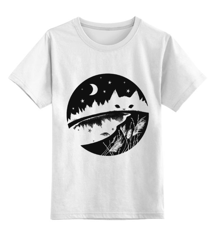 Детская футболка классическая унисекс Printio Кот в лесу детская футболка классическая унисекс printio ниган кот