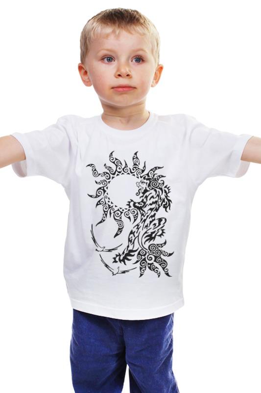 Детская футболка классическая унисекс Printio Снежный лев детская футболка классическая унисекс printio лев