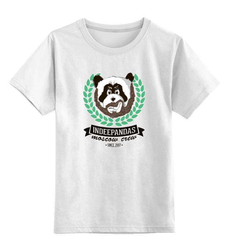 все цены на Детская футболка классическая унисекс Printio Indeepandas moscow crew with outline