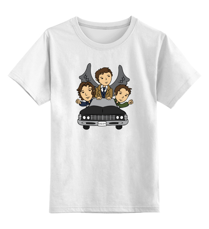 Детская футболка классическая унисекс Printio Сверхъестественное (supernatural) футболка классическая printio сэм винчестер
