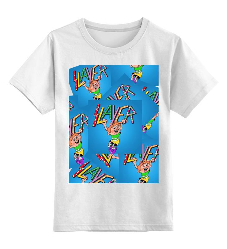 Детская футболка классическая унисекс Printio Slayer майка классическая printio slayer season in the abyss 1990