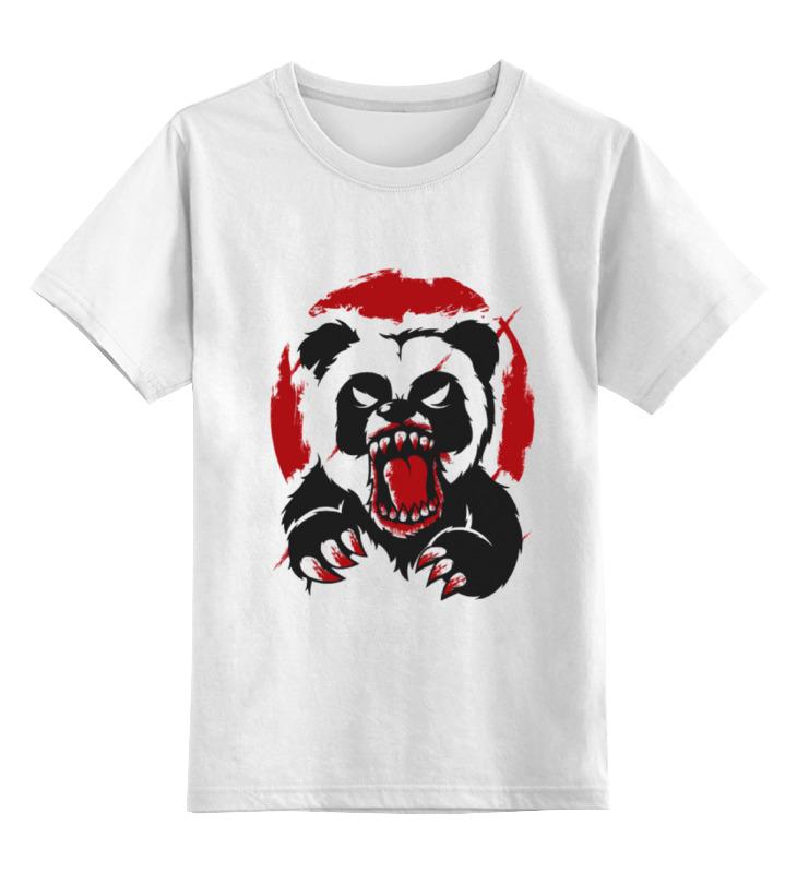 Детская футболка классическая унисекс Printio Разъярённая панда футболка классическая printio когти