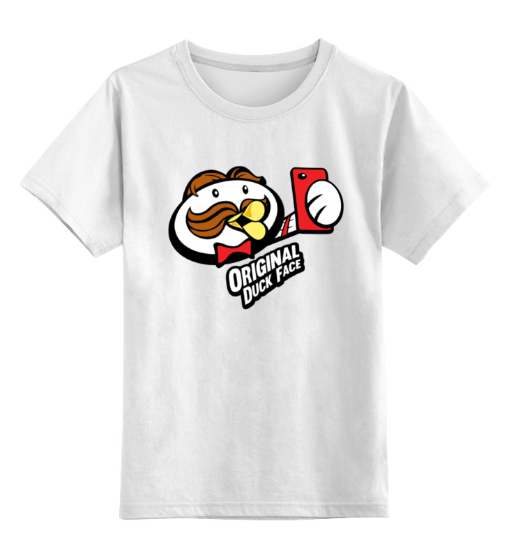Детская футболка классическая унисекс Printio Уточка селфи