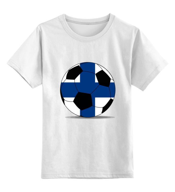 Детская футболка классическая унисекс Printio Футбол финляндия