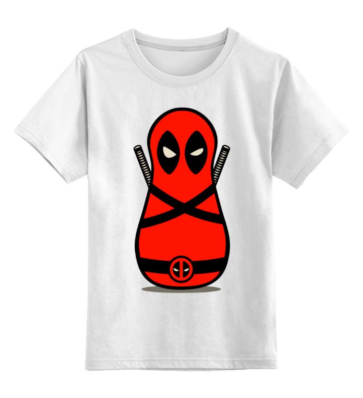Детская футболка классическая унисекс Printio Дэдпул матрешка sbart upf50 rashguard 2 bodyboard 1006