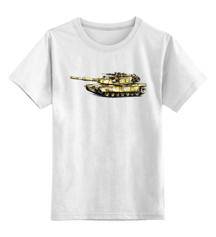 Детская футболка классическая унисекс Printio Абрамс (танк) детская футболка классическая унисекс printio танк т 90
