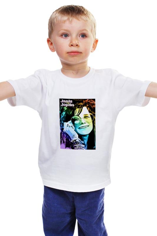 Детская футболка классическая унисекс Printio Janis joplin scott joplin ноты в спб