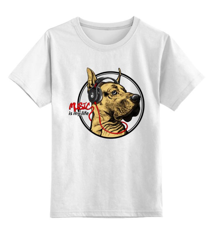 Детская футболка классическая унисекс Printio Music - is my life кепка printio music is my life