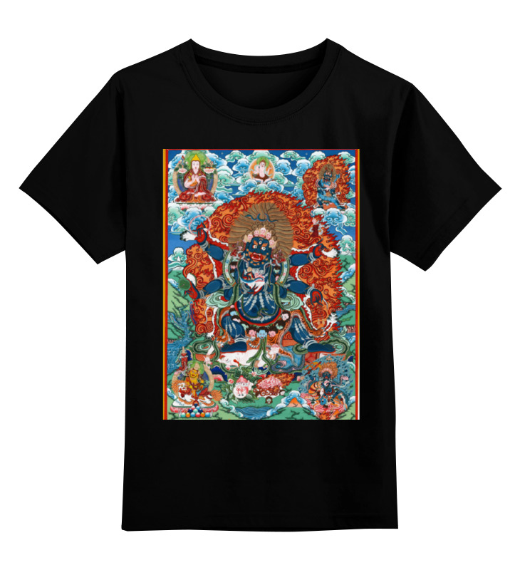 Детская футболка классическая унисекс Printio Тибетская vajrabhairava 聪明豆绘本系列 10个小怪物历险记