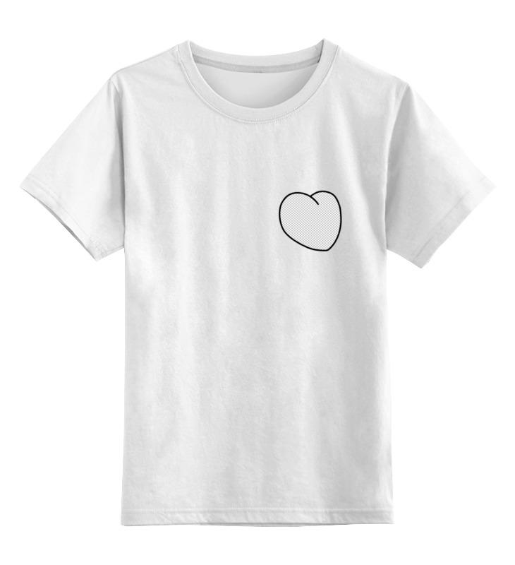 Детская футболка классическая унисекс Printio Вырезанное сердце футболка для фотошопа