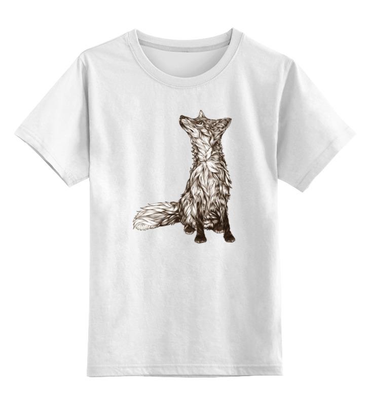 Детская футболка классическая унисекс Printio Хитрая лиса