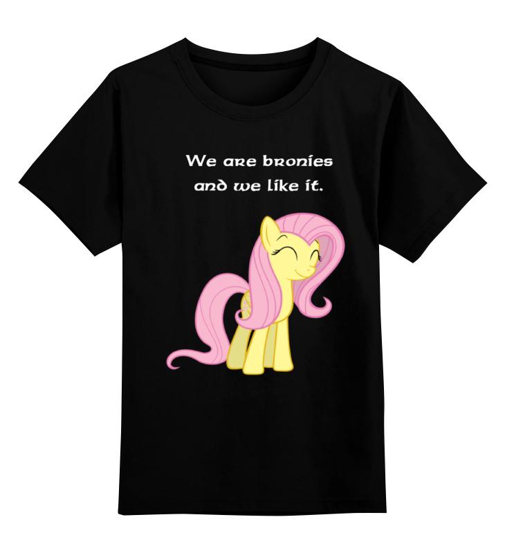 Детская футболка классическая унисекс Printio We are bronies and we like it. are we nearly there yet watts poetry s