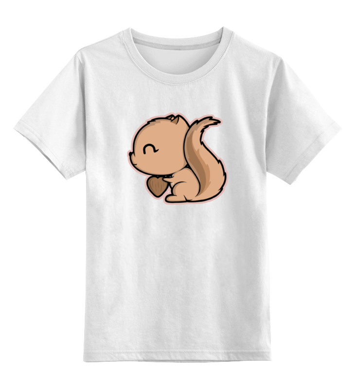 Детская футболка классическая унисекс Printio Белочка sbart upf50 rashguard 2 bodyboard 1006