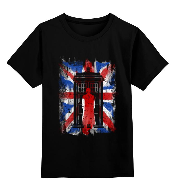 Детская футболка классическая унисекс Printio 10th флаг uk (доктор кто) suck uk