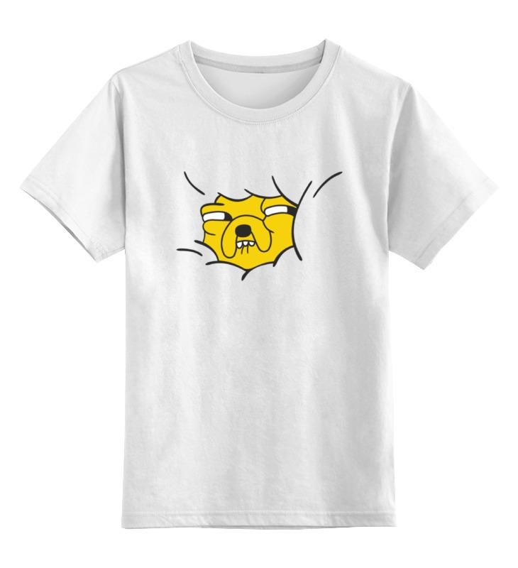 Детская футболка классическая унисекс Printio Песик джейк вышивка бисером открытка 4 песик