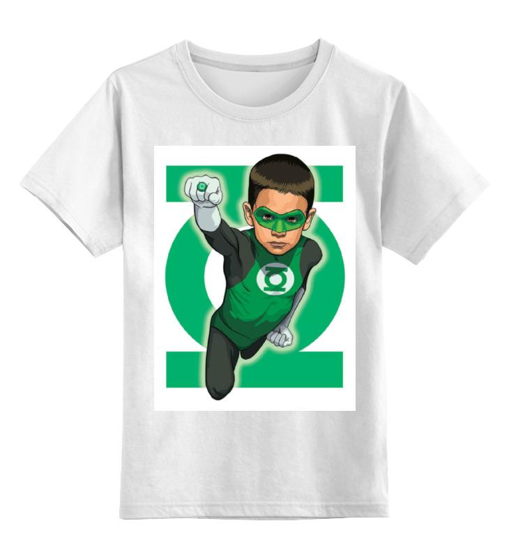 Детская футболка классическая унисекс Printio Зелёный фонарь / green lantern толстовка классическая детская dc cappell boy vintage green