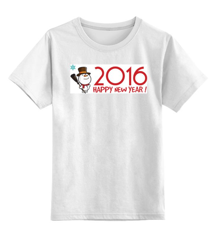 Детская футболка классическая унисекс Printio Снеговик в котелке все цены