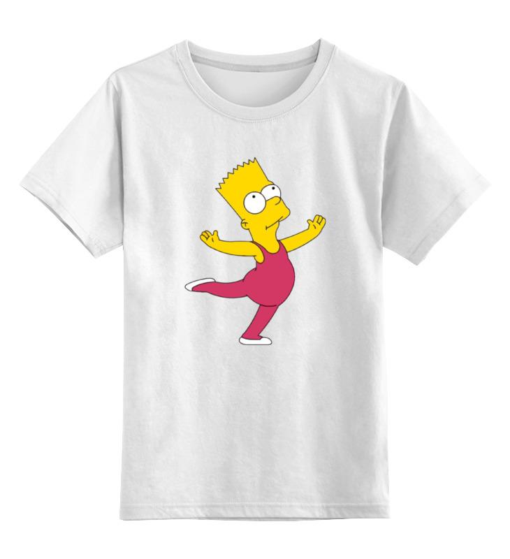 где купить Детская футболка классическая унисекс Printio Барт балерина по лучшей цене