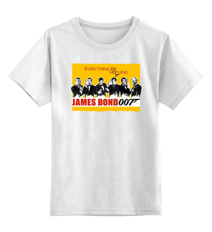 Детская футболка классическая унисекс Printio James bond