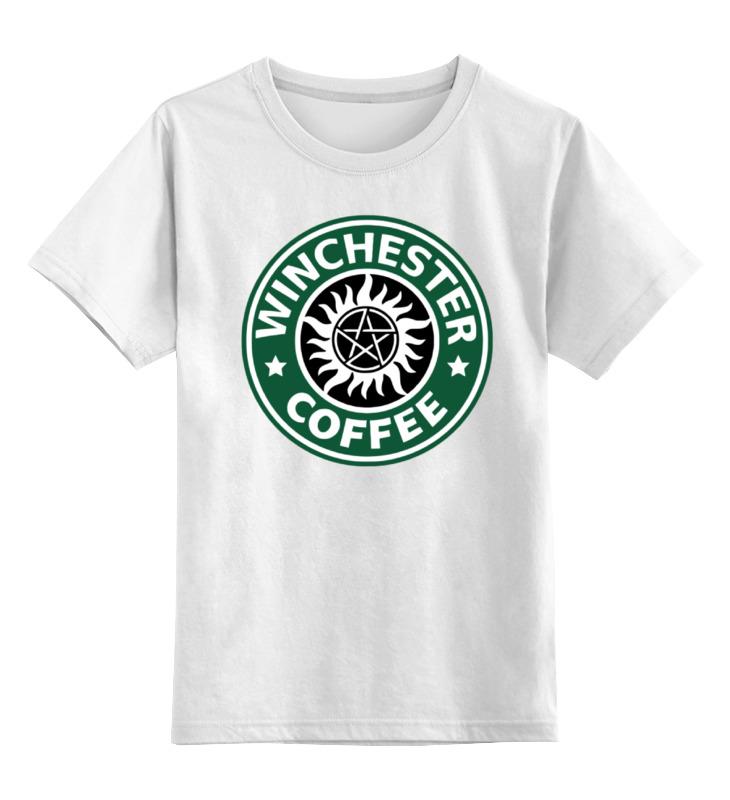 Детская футболка классическая унисекс Printio Братья винчестер (supernatural) майка классическая printio братья винчестер supernatural