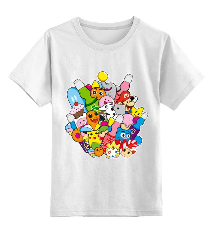 Детская футболка классическая унисекс Printio Мультики мультики на флешке винни пух usb