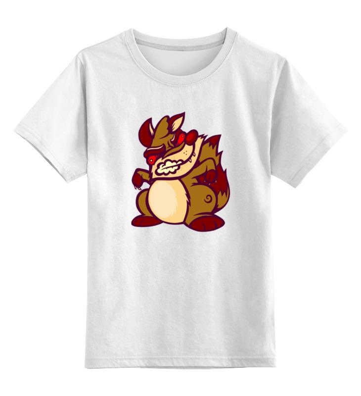 Детская футболка классическая унисекс Printio Злая белка цена и фото