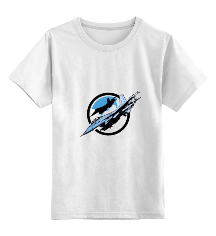 Детская футболка классическая унисекс Printio Истребитель цена и фото